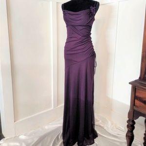 City Triangles Long Purple Formal Dress